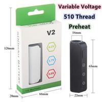 Min.1set 510 Thread Battery Variable Voltage 3.0-4.2V Vape Mod Preheat Vape Battery 450mAh Vaporizer Imini For Thick Oil Vape Cartridges