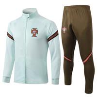 Wholesale soccer jersey cr7 resale online - New Season Portugal jacket tracksuit national team CR7 Adult Full Zip football jogging soccer jerseys Men jacket training suit