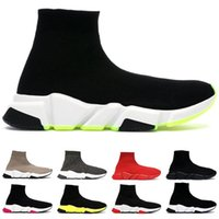 Wholesale gold toe cotton socks for sale - Group buy Sock Shoes For Men Women Fashion Design Speed Trainers Sneakers Triple Red Black Volt Stick Brown mens casual shoes Size