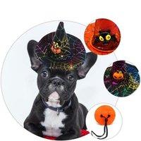 Wholesale cat headgear resale online - Creative Pet Supplies Cat Halloween Christmas Hat Spider Pumpkin Headgear Non Woven Fabric Funny Dog Headgear