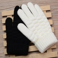 Wholesale kids wool mittens resale online - New Fashion Kids Thick Knitted Gloves Warm Winter Gloves Children Stretch Mittens Boy Girl Infant Solid Guantes Hand Accessories