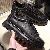 Wholesale trendy sneakers resale online - Men Platform Sneakers Women Classic Fully Black Shoes Top Quality Leather Fashion Platform Shoes Trendy Designer Casual Shoes