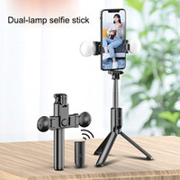 Wholesale bluetooth controlled timer resale online - CE Certification R9 double fill light wireless bluetooth selfie stick remote control tripod smartphone live photo self timer artifact rod