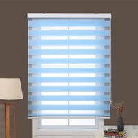 Wholesale Blue Zebra blinds horizontal simple rolling shutter custom size for window decoration quality assurance window curtains for living room