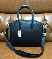 Wholesale black rivet woman handbag resale online - 2020 black tote bag shoulder bags real leather handbags fashion crossbody bag female business laptop bags purse