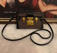 2020 Wholesale Designer Box Original petite malle Handbags Evening Bags Leather Fashion Box Clutch Brick Messenger Shoulder Bag 43596