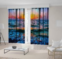 Wholesale wave paintings for sale - Group buy Curtain Sunset on Stormy Sea Waves Nature Seascape Evening View Oil Painting Art Printed Blue Orange Pink