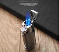 Wholesale honest torch lighter cigarette for sale - Group buy Newest Honest Strong Jet Torch Lighter Ignition Fire Straight Gas Butane Cigarette Windproof Lighters For Outsdoor BBQ Kitchen Tool