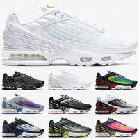 blaue orange turnschuhe groihandel-Nike Air Max airmax Tn Plus 3 Männer Frauen Laufschuhe Tuned Ultra Trainer Triple White Black Sunset Neon Hyper Blue Violet Herren Sport Sneakers Größe 36-45
