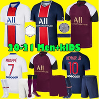 Wholesale Men kids Maillots de football kit PSG soccer jerseyS Paris MBAPPE Third jerseys ICARDI VERRATTI football shirt