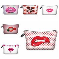 Wholesale multifunction makeup storage bag for sale - Group buy 3D Printing Cosmetic Bag Lady Makeup Bag Multifunction Travel Pouch Lady Sundries Storage Bags Portable Toiletry Bag Organizer DHB1301