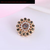 Wholesale magnetic brooches for sale - Group buy kdMh4 Women s Scarf Jewelry strong magnetic diamond double sided magneticdiamond flower fashion brooch needle scarfYiwu small jewelry Muslim