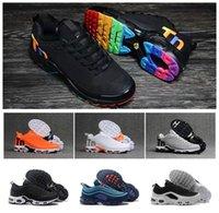 Wholesale cushion beige resale online - Original Mens Plus Tn Designer Shoes Chaussures Homme Tn Plus Women Sport Trainers Zapatiallas Hombre Tns Cushion Run Shoe Eur36