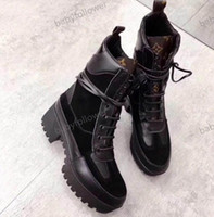 Wholesale autumn run boots for sale - Group buy High heeled Martin boots Winter Coarse heel woman shoes designer Desert Boots real leather Fashion luxury boots Large