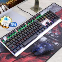 ingrosso tastiera-M100 reale Mechanical Gaming KeyboardMouse set cablato desktop di casa Gaming Keyboard MX Blu interruttore Key Board