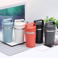 Wholesale blue bottle coffee for sale - Group buy Stainless Steel Insulated Coffee mug Portable outdoor Coffee Cup with cover Vacuum Colored office drinking cup ml water bottle FWD1743