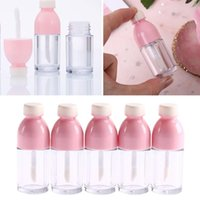 Wholesale 5 Beverage Bottle Shape Empty Lip Gloss Tubes DIY Refillable Bottles Mini Portable Clear Lipgloss Tube Container