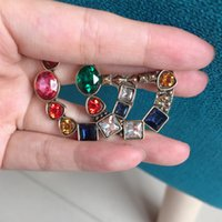 Wholesale wedding brooches set for sale - Group buy New Arrival Crystal Letter Brooch Retro Vintage Multicolor Crystal Letter Brooch Suit Lapel Pin Jewelry Set Fashion Jewelry Accessories