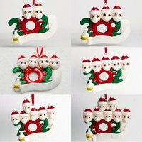 Wholesale head clay resale online - Christmas DIY Name Ornament Christmas Quarantine Wearing Masks Decoration Head Soft Clay Christmas Decor OWE1777