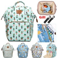 Wholesale travel fox bag resale online - Brand Design Mummy Bags Fashion Fox Printed Travel Backpack Large Cartoon Maternity Diaper Bags Nursing Bag For Baby Care