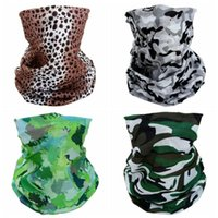 Wholesale sports pipes resale online - New Camouflage Leopard Style Multi Purpose Pipe Scarf Outdoor Sports Mountaineering Insect Proof Sunshade Scarf Head Mask DHA773