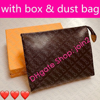M47542 TOILETRY POUCH 26 19 15 Designer Fashion Womens CANVAS Clutch Phone Cosmetic Bag Mini Pochette Toilet Pouch Beauty Case Accessories