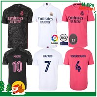 Wholesale 20 Real madrid football Jersey Benzema VINI JR Modric ASENSIO SERGIO RAMOS HAZARD adult men kids kit sports Soccer shirt