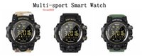 Wholesale top waterproof cameras resale online - TOP Smart Watch Camouflage Bluetooth IP67 Waterproof Remote Camera Fitness Tracker Wearable Running Wristwatch With Retail Box