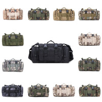 Wholesale travel golf bag for sale - Group buy Camo Tactical Bag Waterproof Military Waist Pack Molle Outdoor Pouch Bag Camping Hiking Durable Backpack Travel Sports Bags CYZ2761
