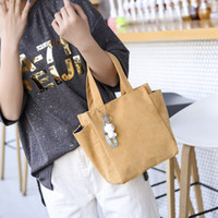 Wholesale women lunch bags resale online - Women Corduroy Bags Shopping Eco Reusable Foldable Handbag Tote Fabric Bag Casual Lunch Box Bag Folding