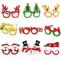 Wholesale spectacle designer frames for man resale online - Christmas Glasses Santa Snowman Xmas Tree Frameless Glasses Adult Kids Spectacle Frame Glasses Photography Props Xmas Decoration OWC2715