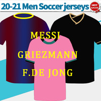 Wholesale uniforms shirts quick dry for sale - Group buy MESSI camise Home soccer jersey Men away black gold soccer shirt third pink F DE JONG GRIEZMANN Football Uniforms