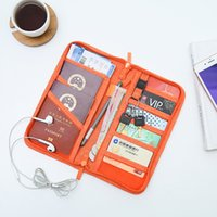 Wholesale travel accessories passport holder resale online - Men Women Travel Organizer Passport Pack Holder Card Package Credit Card Holder Wallet Document Package Travel accessories bag