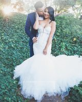 Wholesale design wedding dresses for sale - Group buy Luxury Ivory Lace Mermaid Wedding Dresses Sweetheart Appliques Puffy Tulle Ball Gown Wedding Dress Plus Size Bridal Gowns Custom Design