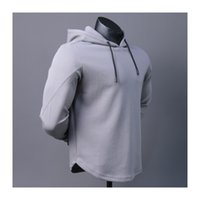 Wholesale men running jerseys for sale - Group buy Man Pullover Jackets Running Hoody Gym Sports Autumn Long Sleeves Breathable Quick Dry Fitness Jerseys Training Sweatshirt