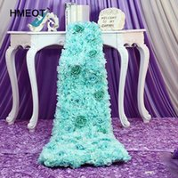 Wholesale peacock table resale online - High quality artificial flower decoration peacock flower tows table center wedding party supplies decoration fake