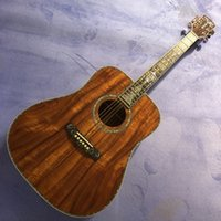 2020 new D barrel full KOA wood black finger full shell inlay free shipping