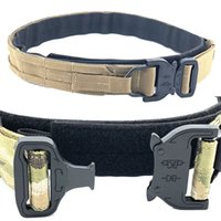 Multicam Tactical Battle Belt Molle Shooting Belt Army Training Equipment Men Hunting Double Layer Gear