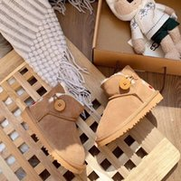 Wholesale australia animal resale online - 2020 kids luxury designer shoes classic australia winter boots for chestnut black blue pink coffee snow fur boots girls baby boot