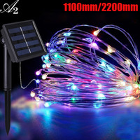 Wholesale led light a2 resale online - Twinkle A2 Holiday Lighting Strings Christmas Decoration Led Light Solar Power Multicolor Outdoor Party Garland Twinkling Lights
