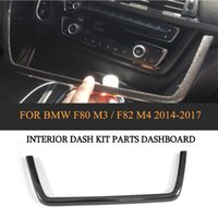 Wholesale parts autos for sale - Group buy DRY Carbon Auto Interior Dashboard Kit Parts Trim for BMW F80 M3 Sedan F82 M4 Coupe Only Left Hand Driving
