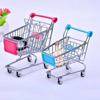 Wholesale toy shopping trolleys for sale - Group buy Creative Metal Mini Shopping Cart Ornaments Baby Supermarket Hand Trolley Home Storage Handcart Toys Room Decoration