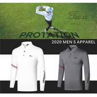 Wholesale golf t shirts resale online - Golf Clothing Men s Long sleeved Breathable Quick drying Clothes Casual Wicking T shirt Jersey Polo Shirt Sports Top Autumn