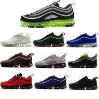 Wholesale discounted big shoes resale online - New big discount gray white red blue air cushion men running shoes breathable leisure sports training shoes shoe size to