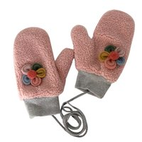 Wholesale hand gloves for ladies resale online - Lovely flowers Gloves Women Full Finger Glove Winter Female Thick Plush Ladies Glove for Girls Hand Warmer Gluves Adult Wrist