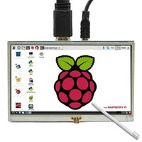 ingrosso pi monitor-5 pollici LCD touch HDMI Sn Raspberry Pi 3 Display LCD Monitor HDMI 800x480 per Banana Pi Raspberry 3/2 Modello B / B +