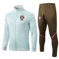 Wholesale soccer jersey cr7 for sale - Group buy New Season Portugal jacket tracksuit national team CR7 Adult Full Zip football jogging soccer jerseys Men jacket training suit