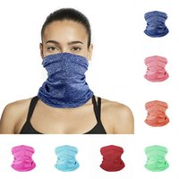 Wholesale women men outdoor sports cycling headband resale online - DHL shipping Neck Gaiter Women Men Magic Scarf Outdoor Sport Headband Summer Breathable Bandana Face Cover for Sun UV Cycling DHE1109