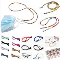 Wholesale eyeglass neck chains resale online - Fashion Beaded Mask Lanyard Holder Chain Necklace Strap Eyeglasses Neck Chain Strap Necklace Holders For Women Girls HH9