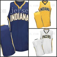 Wholesale men s blank soccer jerseys resale online - Indiana Pacers Blank customized retro soccer jersey